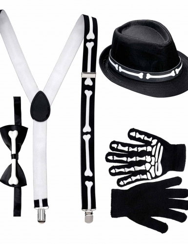 Kit gentleman esqueleto adulto Halloween