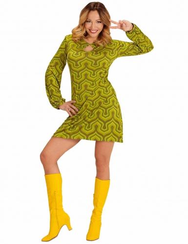 Disfarce groovy verde anos 70'