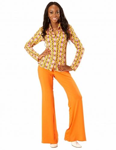 Camisa groovy disco anos 70' mulher