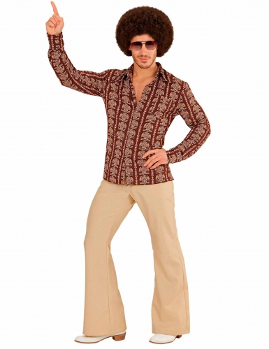 Camisa groovy old scholl anos 70' homem