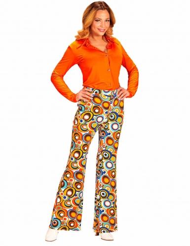 Calças groovy bubbles anos 70' mulher