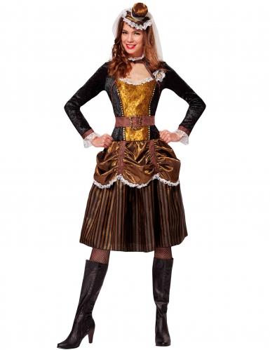 Disfarce princesa barroca mulher Steampunk