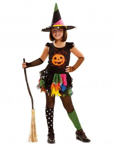 Disfarce bruxa abóbora menina Halloween