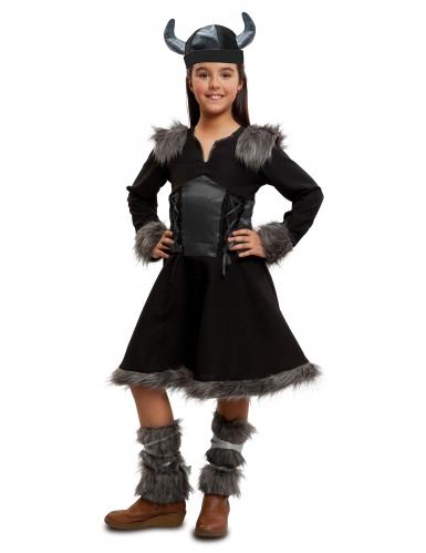 Disfarce viking preta menina