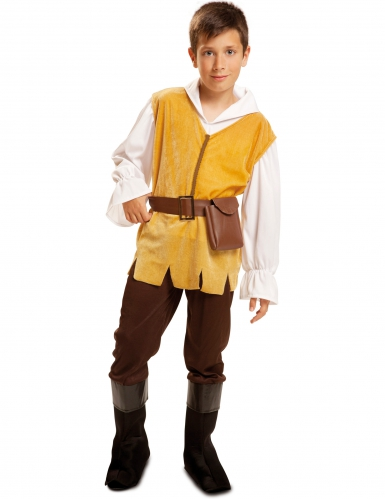 Disfarce taberneiro medieval menino