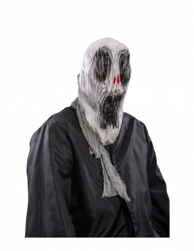Máscara de fantasma assustador Halloween adulto