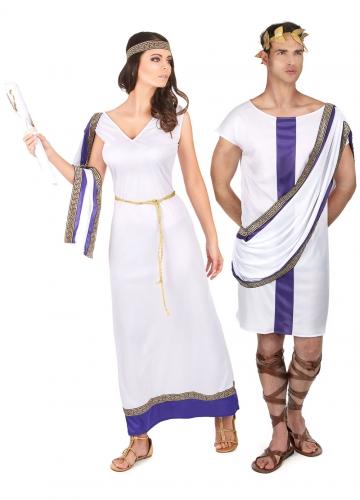 Disfarce de casal romano lilás