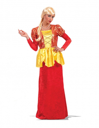 Disfarce imperatriz vermelho e dourado
