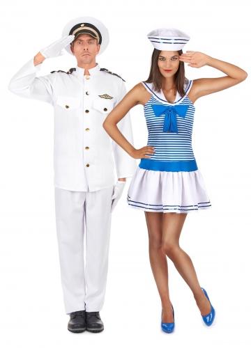 Disfarce de casal marinheiro adulto