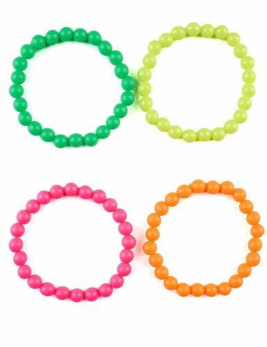 4 Braceletes coloridos - adulto