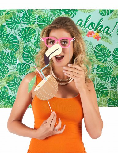 Kit photobooth Hawai 10 artigos!-2