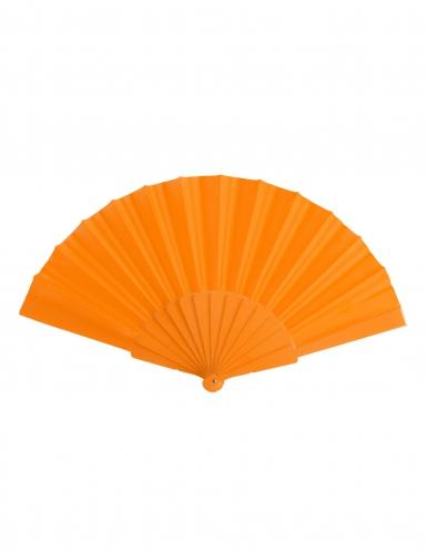 Leque cor de laranja