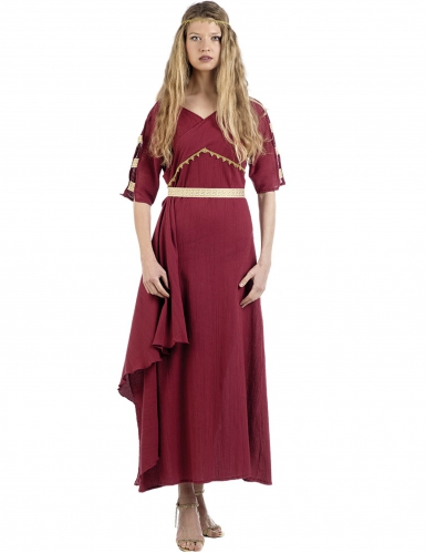 Disfarce princesa romana vermelho mulher