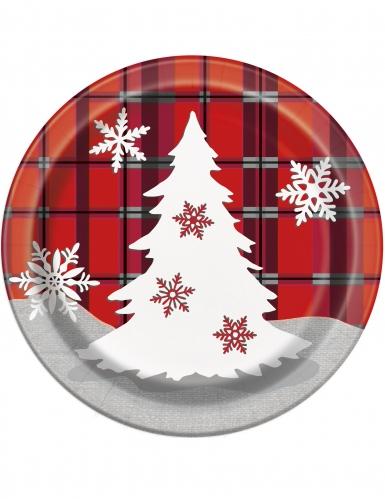 8 Pratos pequenos de cartão Natal