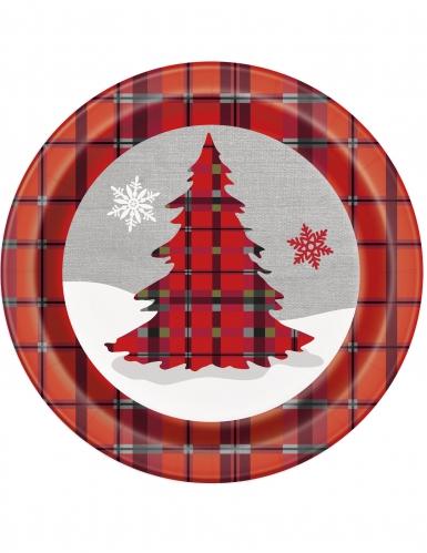 8 Pratos de cartão Natal