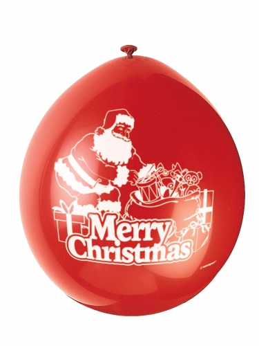 10 Balões látex vermelhoMerry Christmas