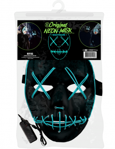 Máscara de néon olhos e boca cosidos-1