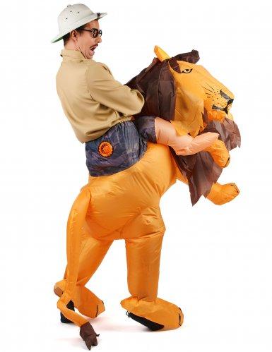 Disfarce leão insuflável adulto-2