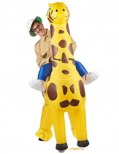 Disfarce insuflável girafa-1