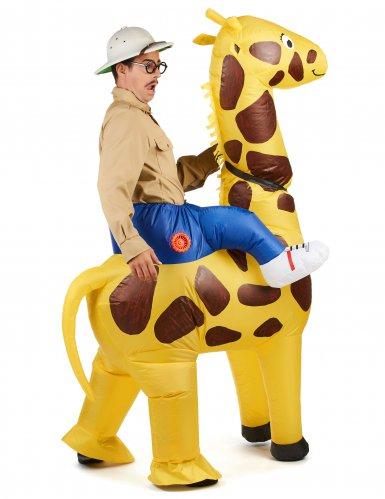 Disfarce insuflável girafa-2