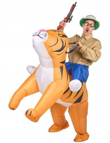 Disfarce tigre insuflável adulto