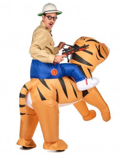 Disfarce tigre insuflável adulto-2