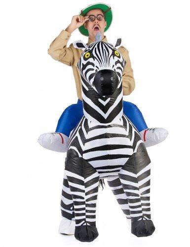 Disfarce zebra insuflável adulto-1