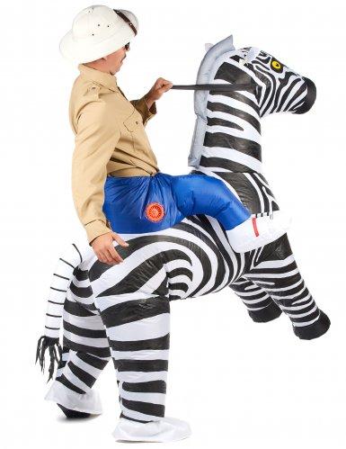 Disfarce zebra insuflável adulto-2