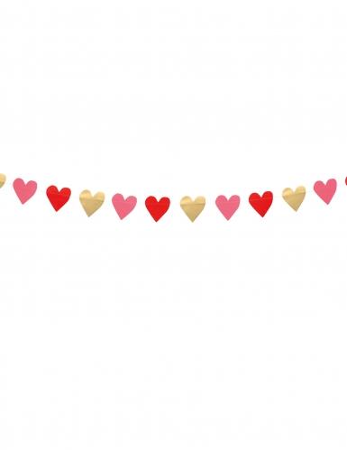 Grinalda pequenos corações Love you