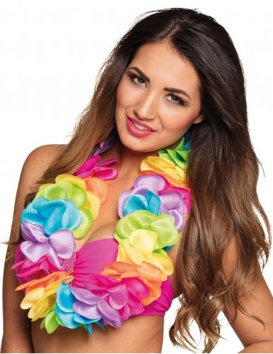 Colar Havaí colorido luxo