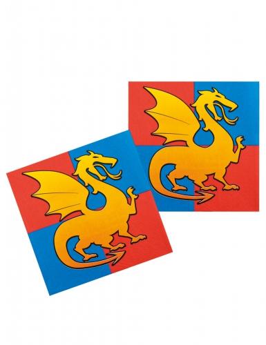 12 Guardanapos de papel cavaleiros