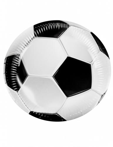 6 Pratos de cartão Futebol Party