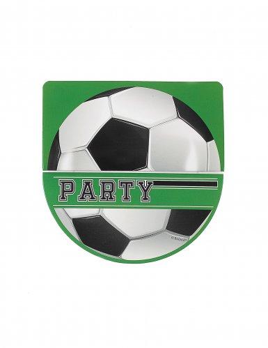 6 convites foot party 10 x 20 cm-2