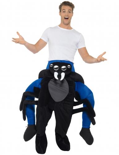 Este disfarce de homem às costas de uma aranha adulto