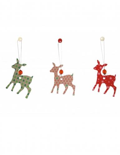6 Decorações cervos de Natal