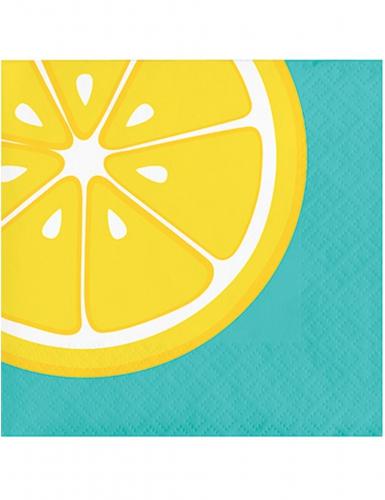 16 Guardanapos pequenos de papel limão