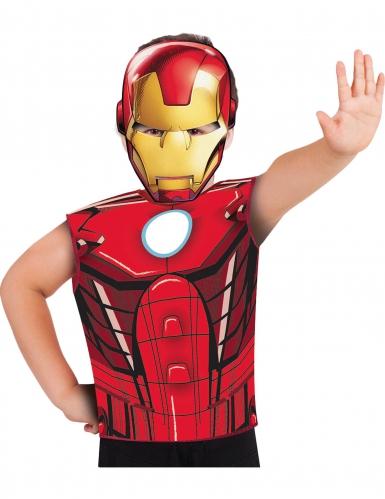 T-shirt e máscara Iron Man™ criança