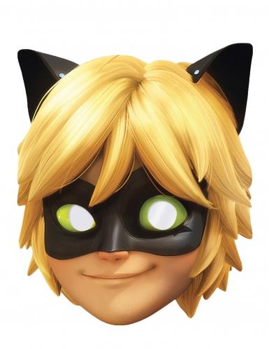 Máscara de cartão Chat Noir Lady Bug™ criança