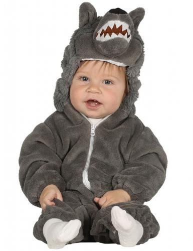 Disfarce lobo cinzento bebé