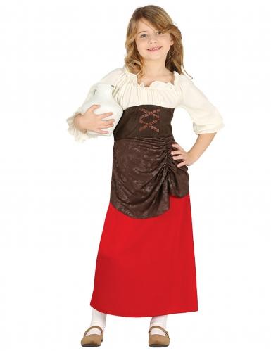 Disfarce taberneira medieval menina
