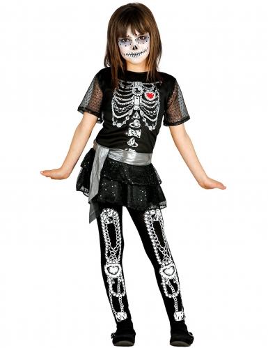 Disfarce shiney esqueleto rapariga Halloween