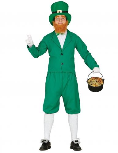Disfarce Leprechaun verde homem