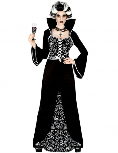 Disfarce fantasma barroco mulher Halloween