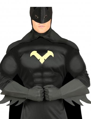 Luvas super-herói pretas adulto