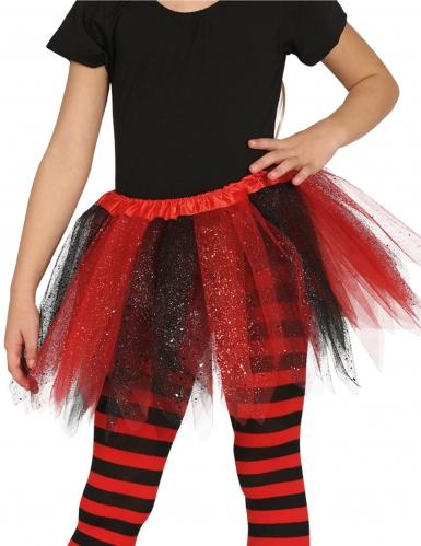 Tutu preto e vermelho com brilhantes menina