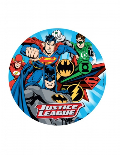 Disco ázimo Justice League™ 20 cm  - Liga da Justiça