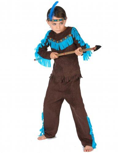 Disfarce índio castanho menino-1