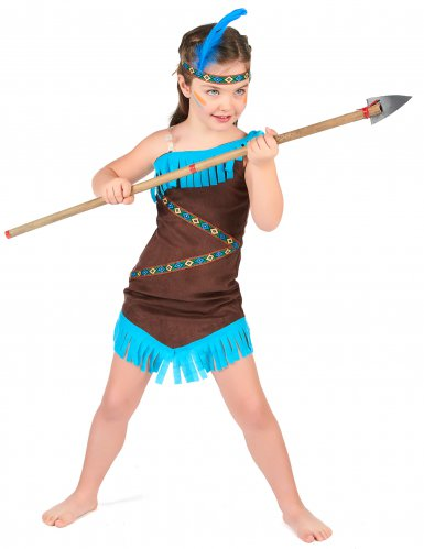 Disfarce índia castanho menina-1