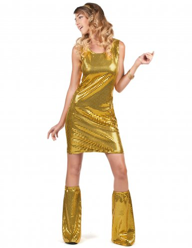 Disfarce Disco dourado mulher-1