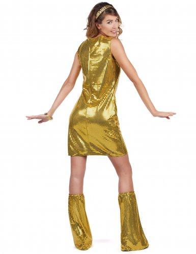 Disfarce Disco dourado mulher-2